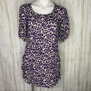 Forever 21 Purple Cheetah Print Casual mini-dress